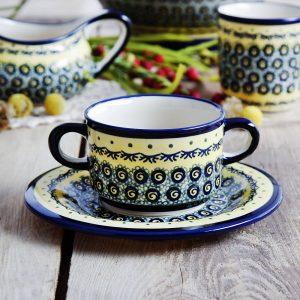 Sopa de caldo de cerámica de Bolesławiec