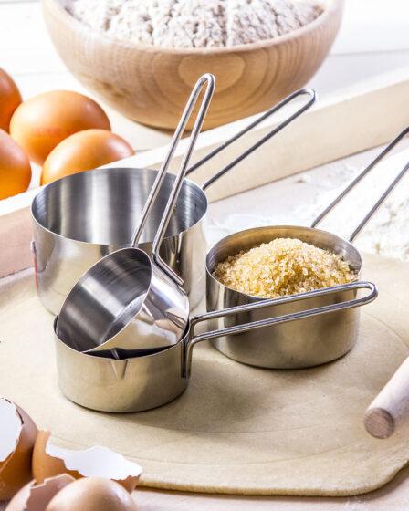 Vasos medidores de cocina de acero