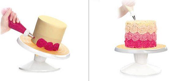 Plato giratorio para decoración de tartas