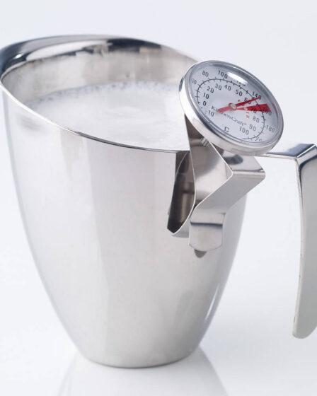termómetro de cocina de acero para leche