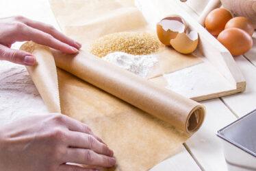 cocina de papel para hornear