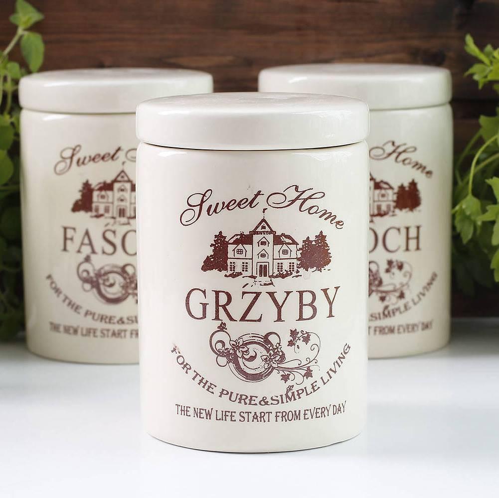 Recipiente de cerámica para setas Sweet Home