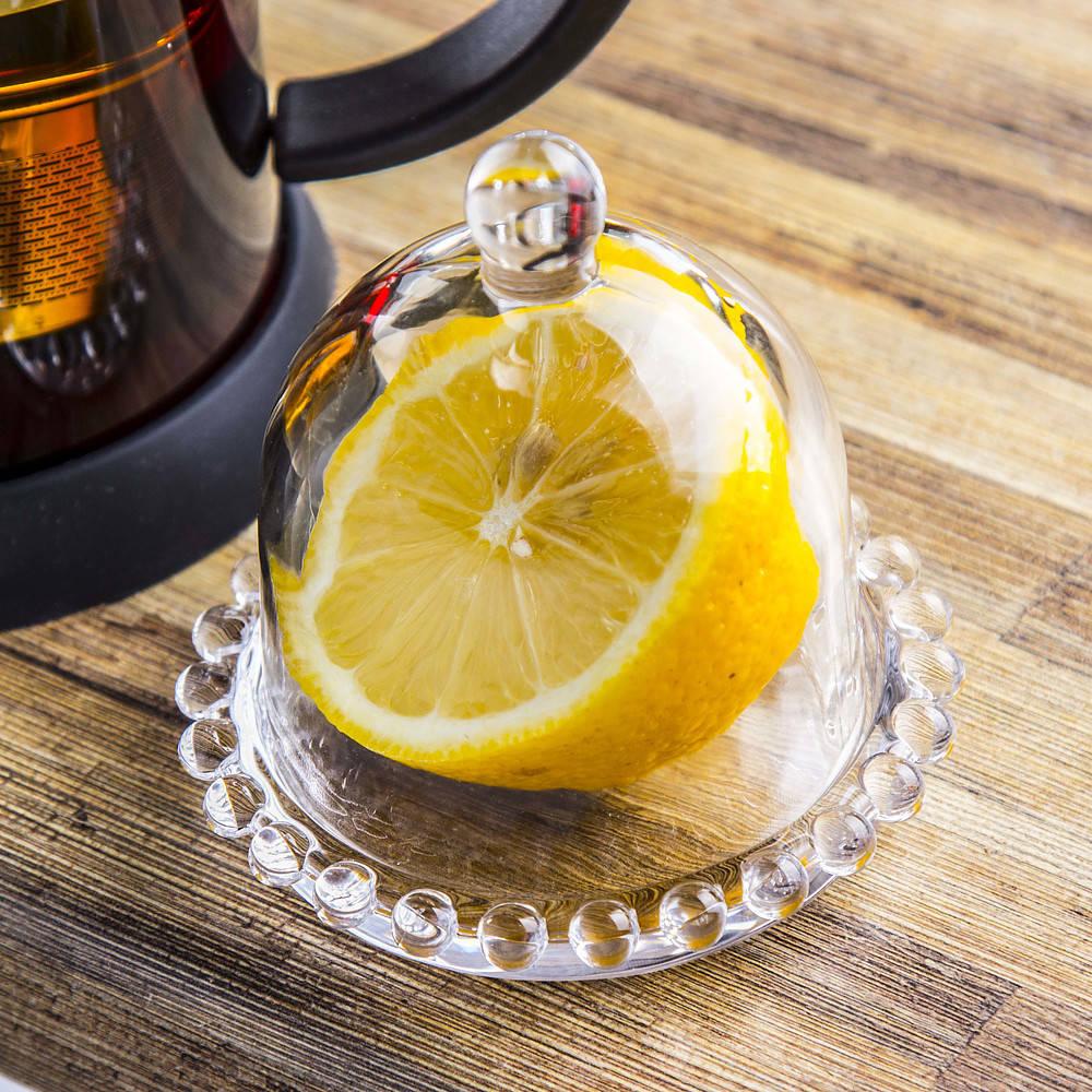 Envase de limón de vidrio