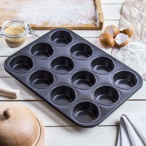 Molde para 12 muffins grises