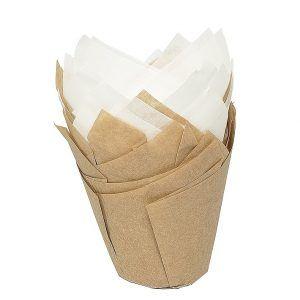 Moldes para muffins de papel Birkmann Tulip