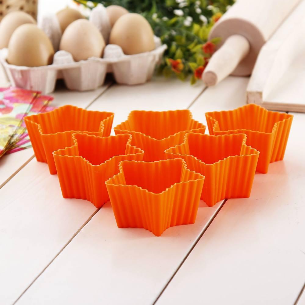 Moldes de silicona para muffins de naranja Silikomart