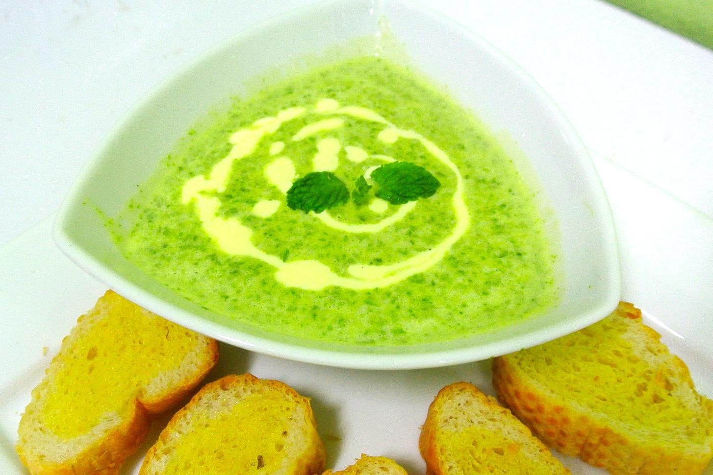 Sopa de crema de brócoli - receta