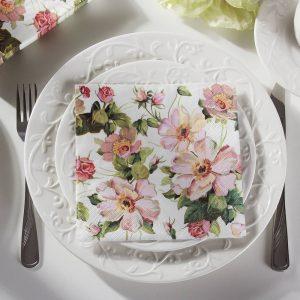 Servilletas de papel flores