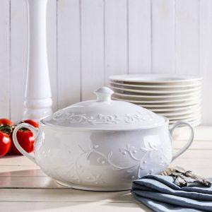 Jarrón para sopa de porcelana de Duo Hemingway
