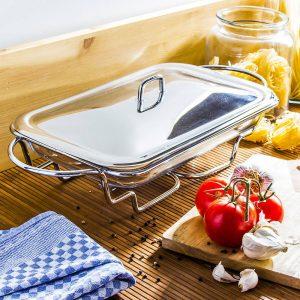 Plato resistente al calor con calentador simple Odelo