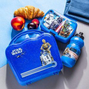 Soporte para botella de agua y sándwich de Star Wars