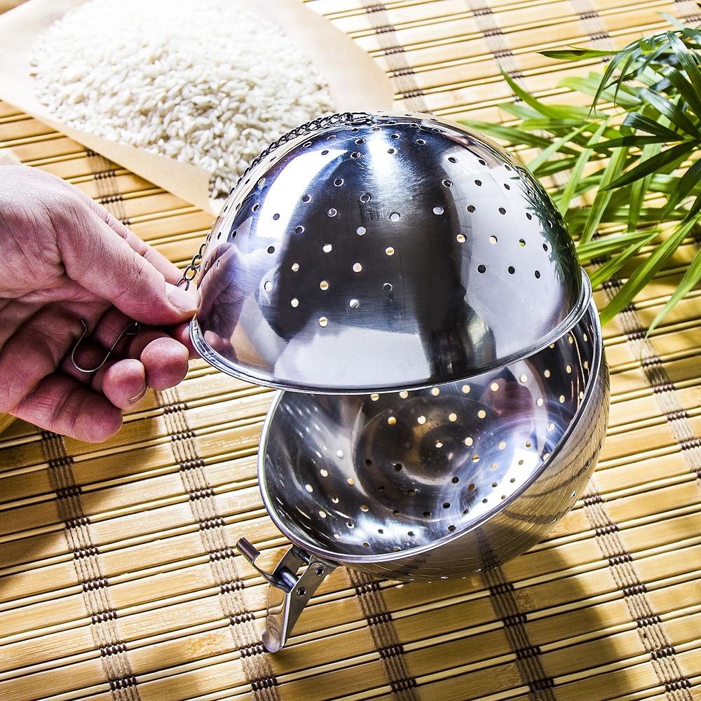 Bola de acero para cocinar arroz