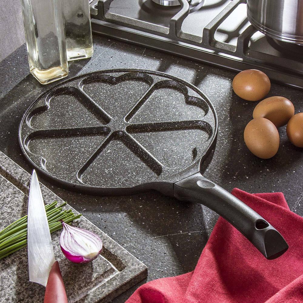 sartén para huevos y buñuelos