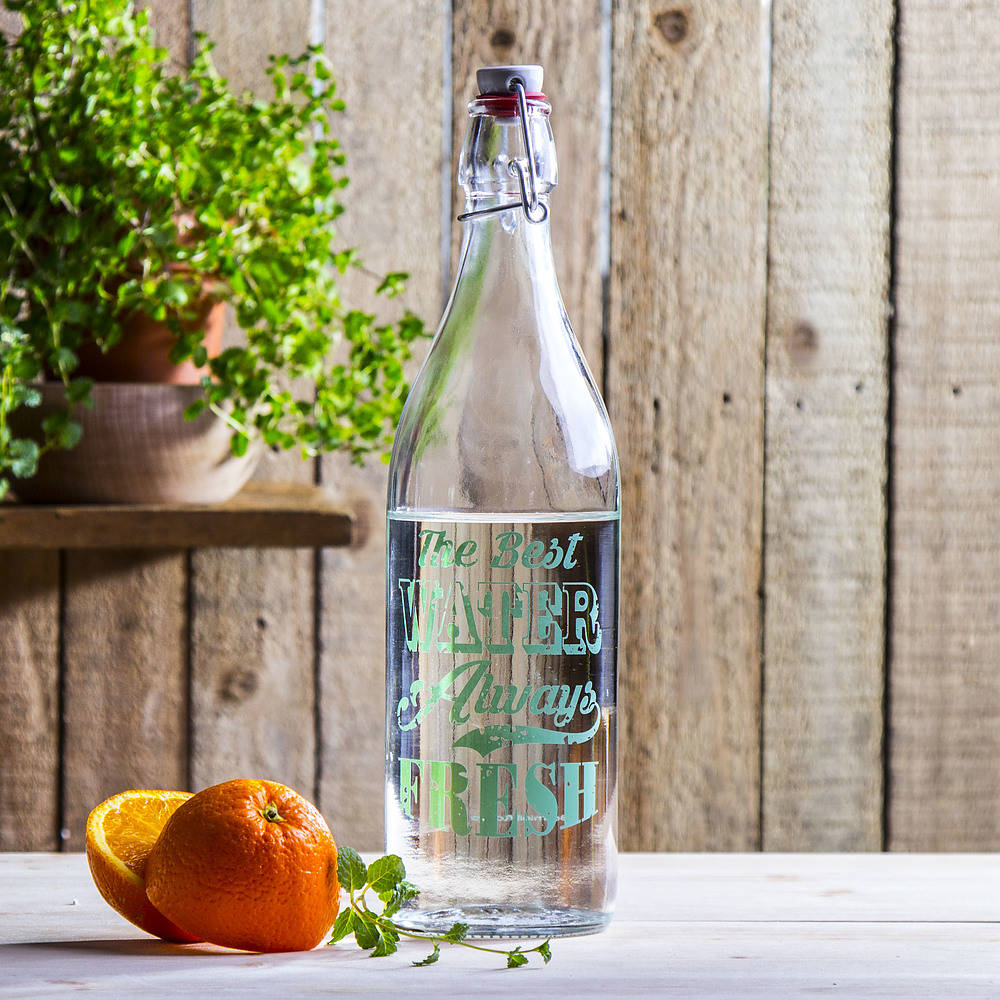 Botella de jugo con tapón Pasabahce