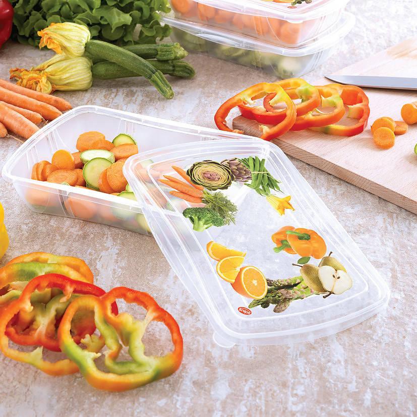 Las verduras cortadas en tiras o rodajas son un excelente refrigerio entre comidas.