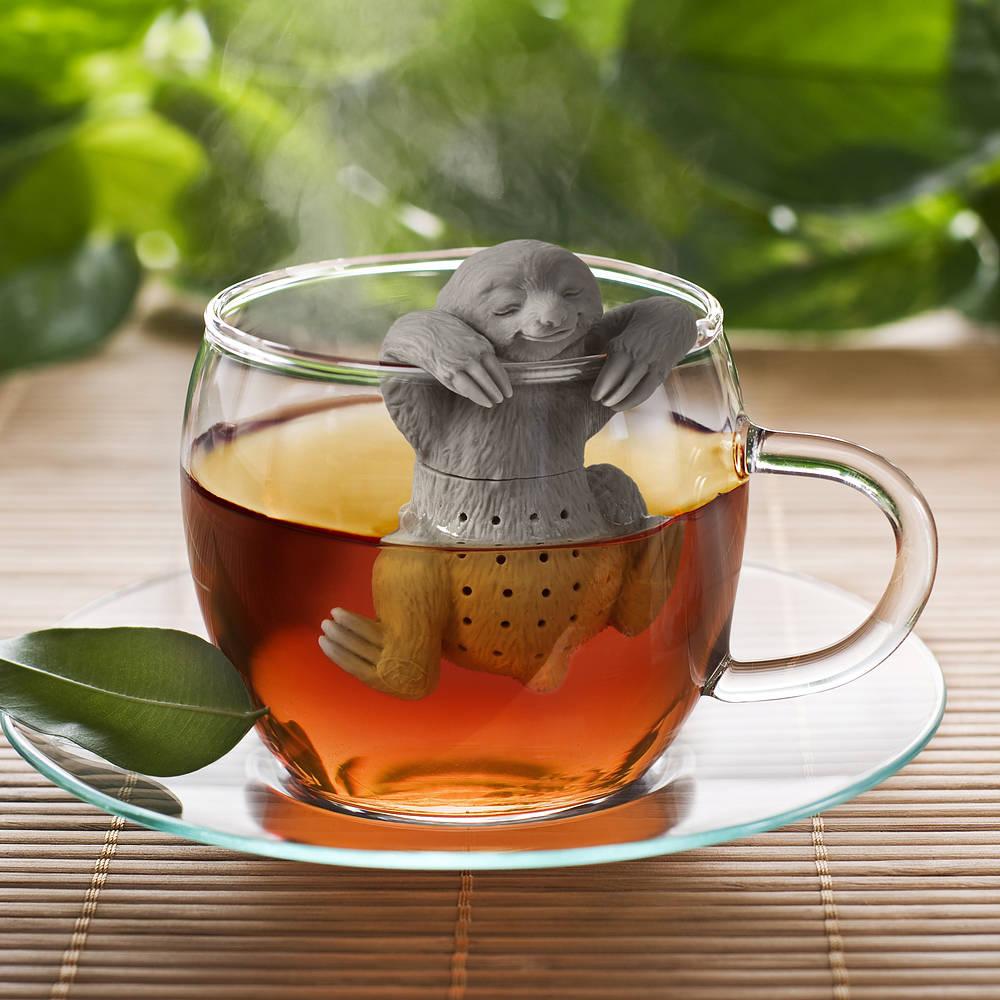 infusor de té de silicona fred y frends sloth