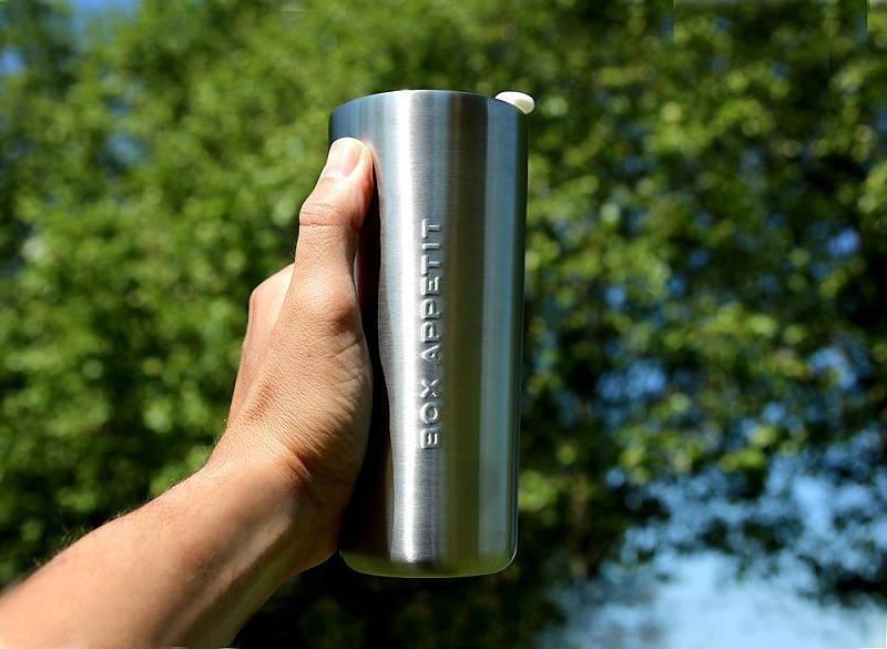 taza térmica de acero blum negro
