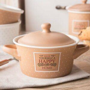 La fuente de horno de cerámica Happy Home