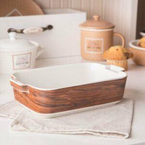 El plato de cerámica resistente al calor Happy Home