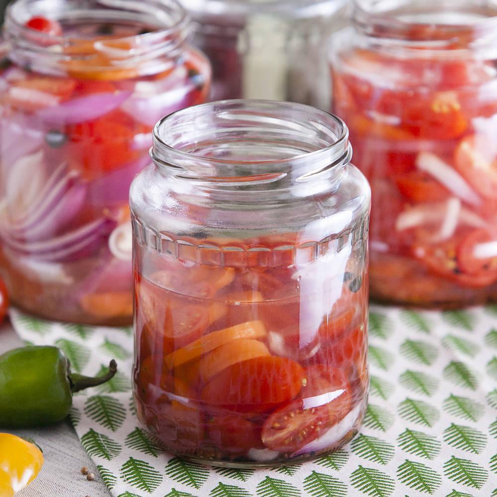Tarros de conserva de frutas
