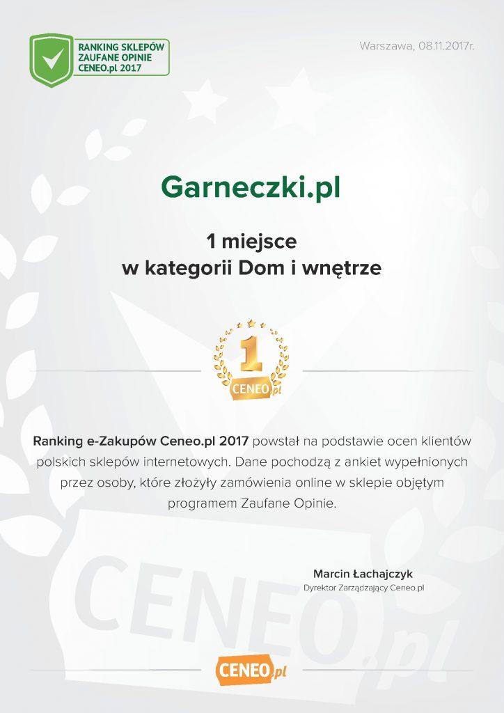 Macetas - diploma Ceneo