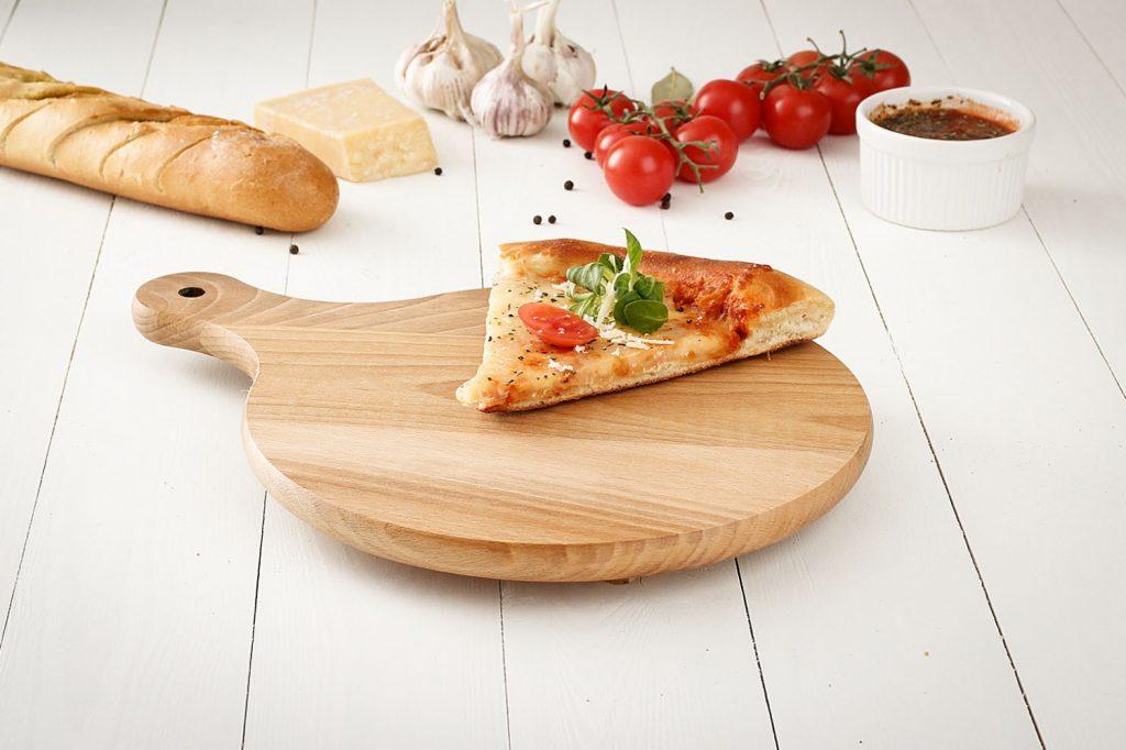 Tablero de madera para pizza
