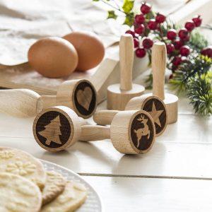 Sellos de madera para decorar galletas