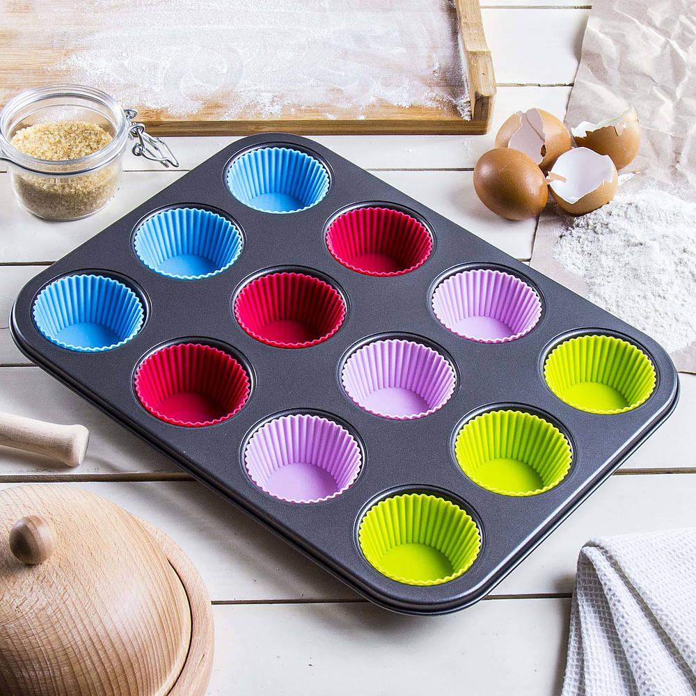 Molde para muffins con inserciones para muffins