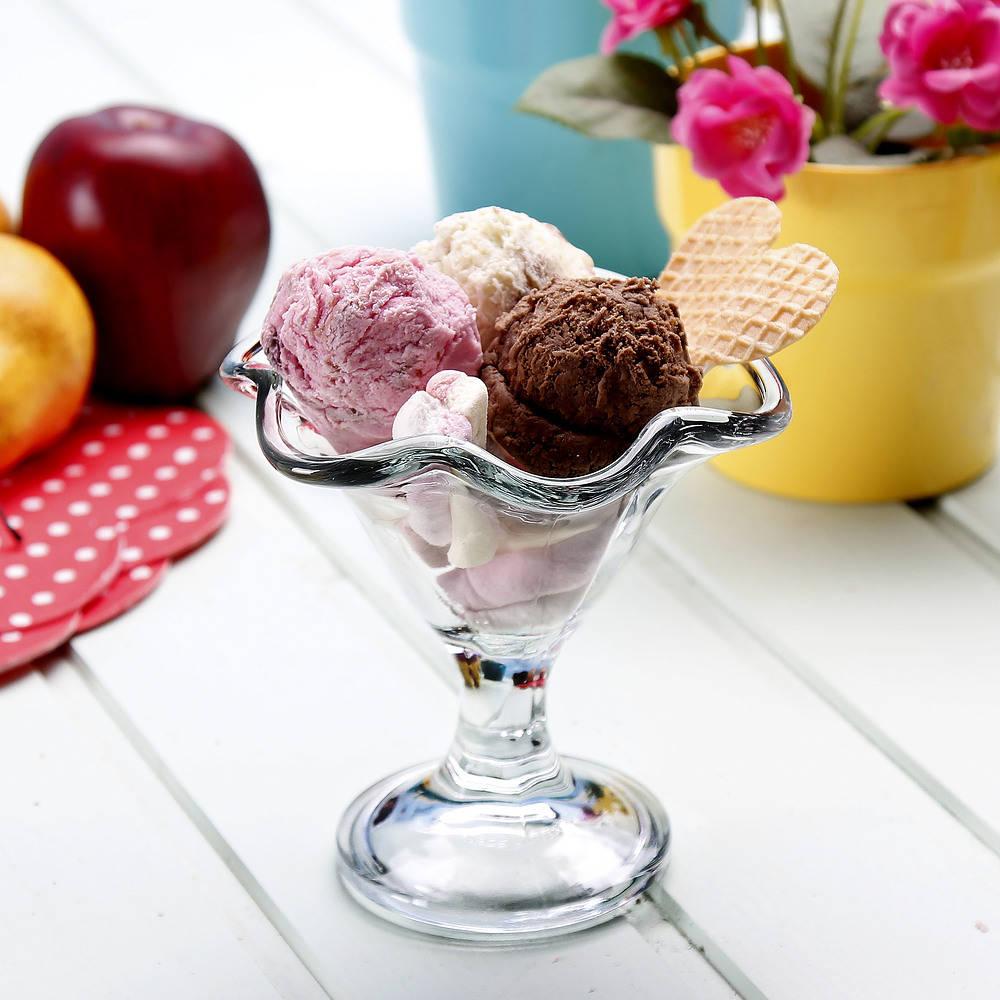 Copa de helado de cristal Rocco