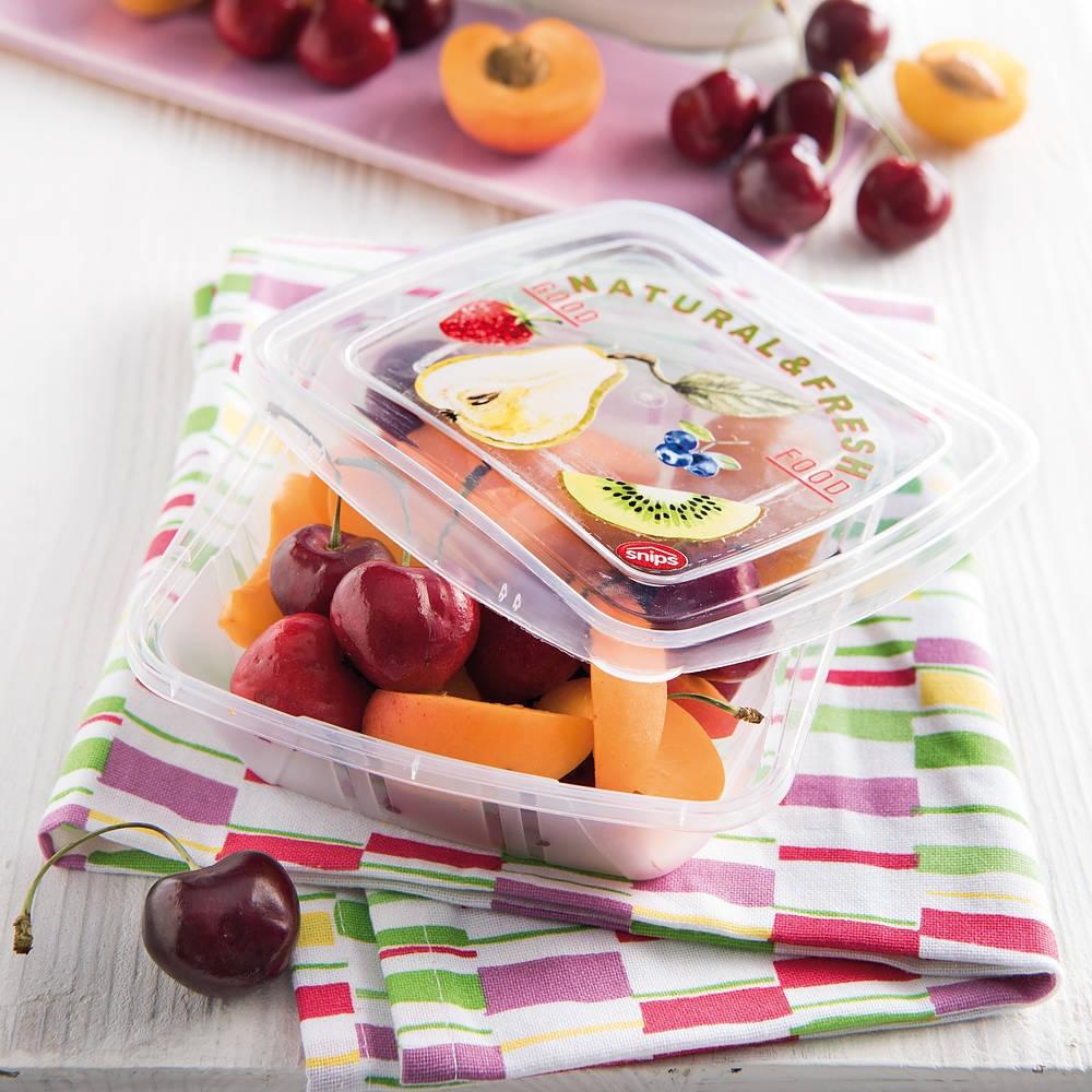 Recorta recipientes de plástico para alimentos