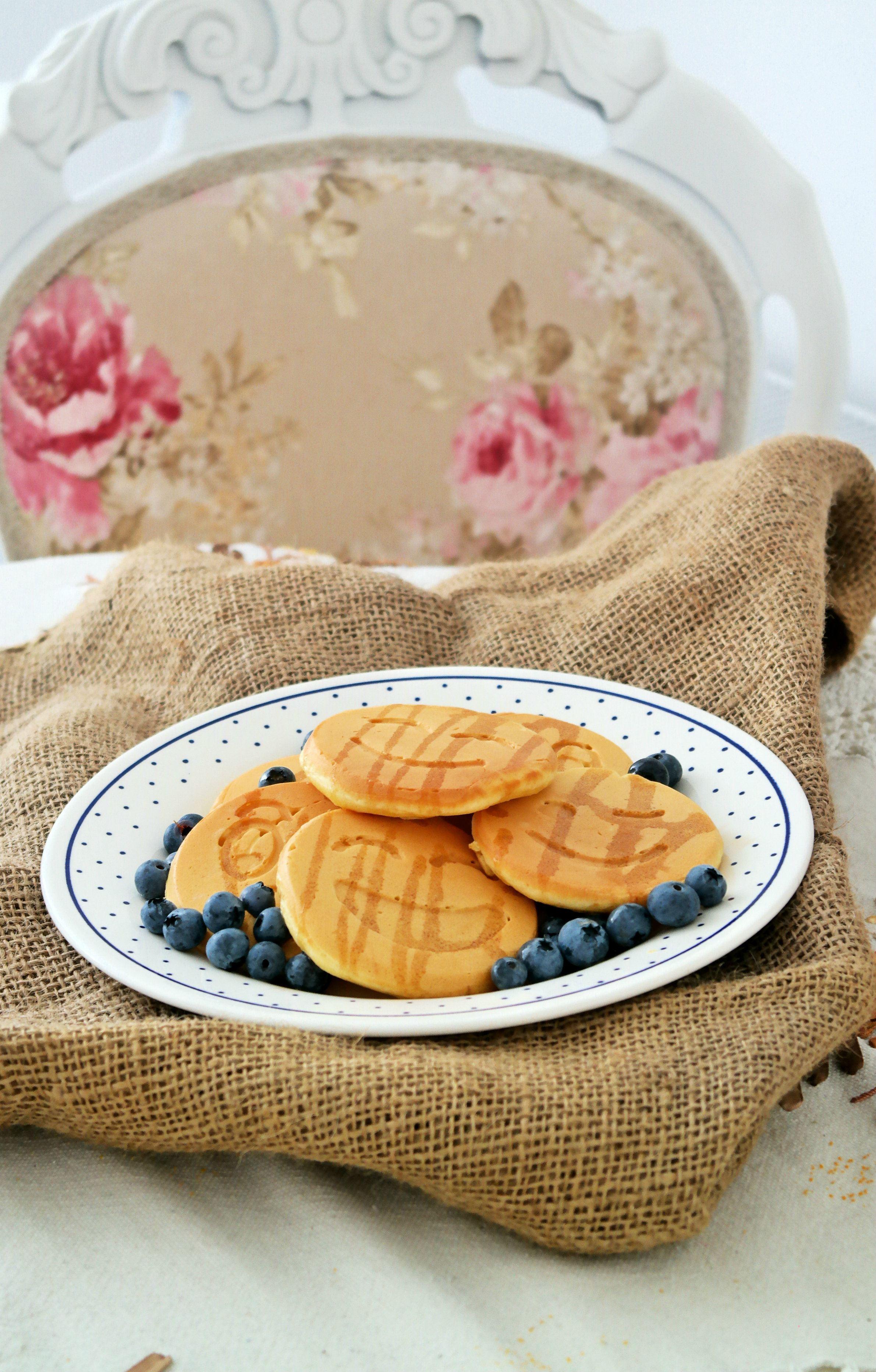 Una receta de panqueques dulces para el desayuno.