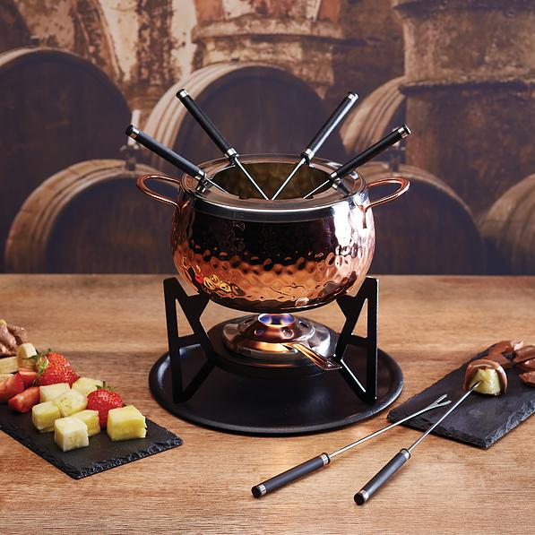 Fondue artesanal de cocina de acero inoxidable