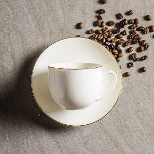 Taza de té y café de porcelana Bella