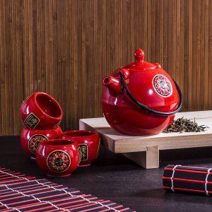 Juego de té de cerámica Asia