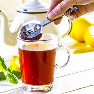 Pinzas de acero para té express
