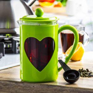 Un infusor de té de vidrio Odelo Valentina