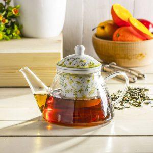 Jarra de vidrio con infusor de té Duo Herbs