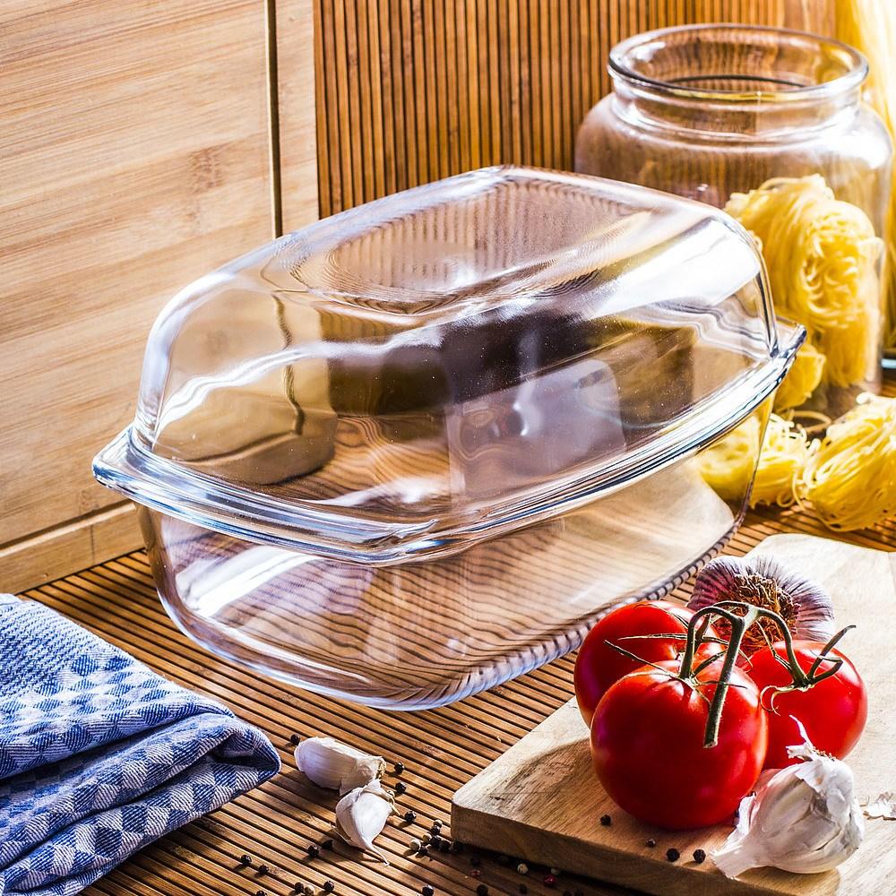 Fuente de vidrio para hornear pan