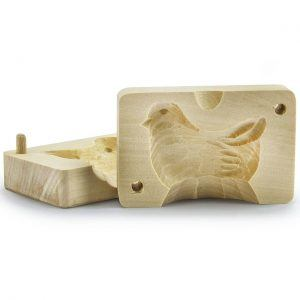 Molde de madera para mantequilla Pollo