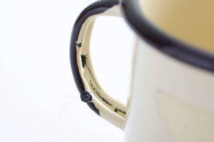 Macetas de taza esmaltadas