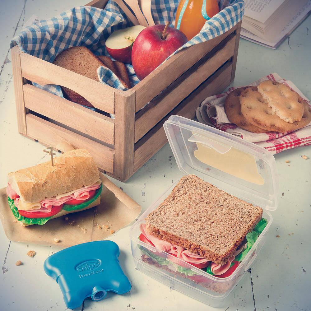 Caja de bocadillos para escuela con inserto de enfriamiento Snips