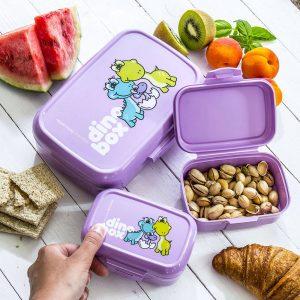 Contenedores de desayuno escolar Tescoma Dino