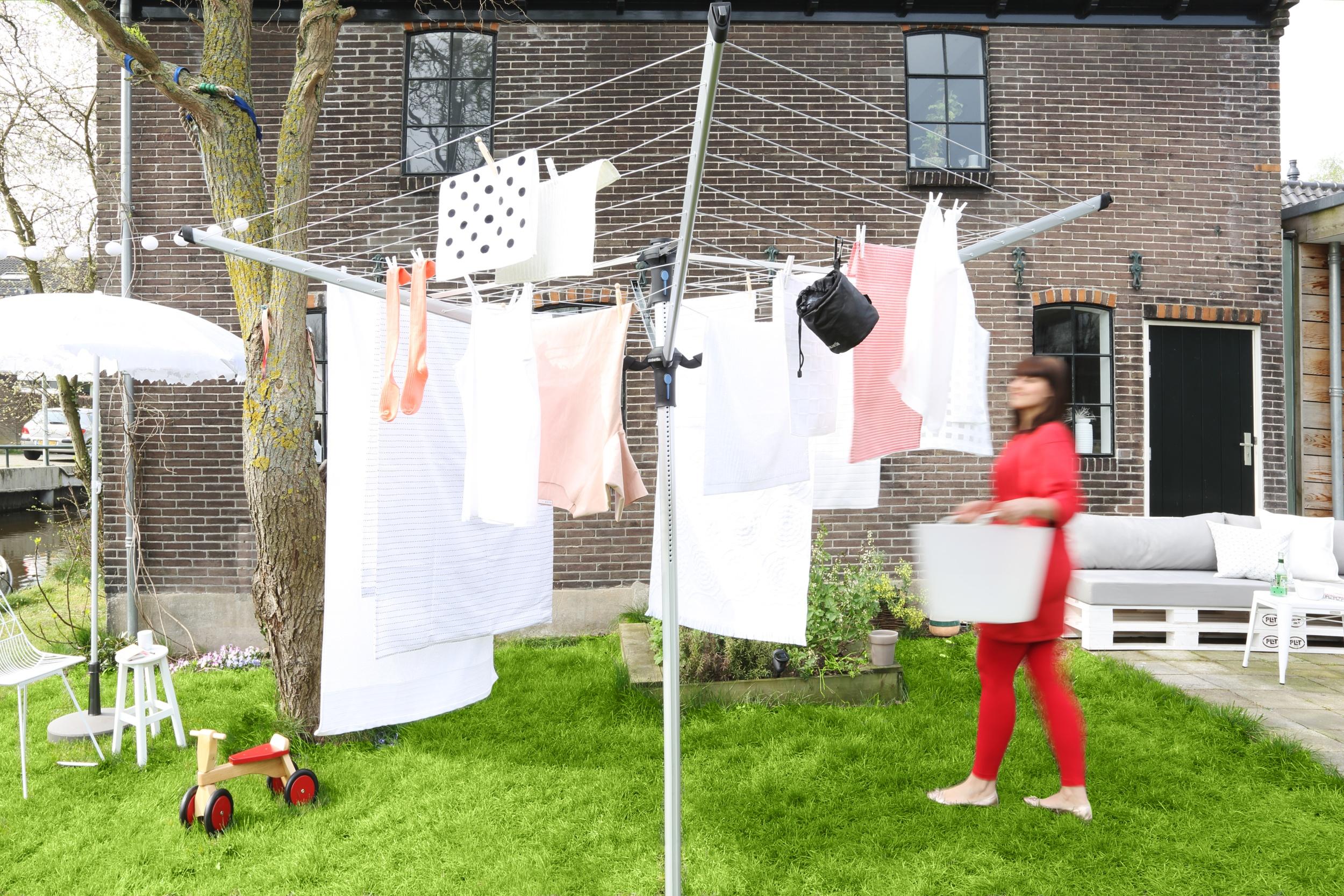 secador de jardín para lavandería