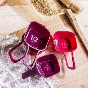 Vasos medidores de cocina de plástico Florina