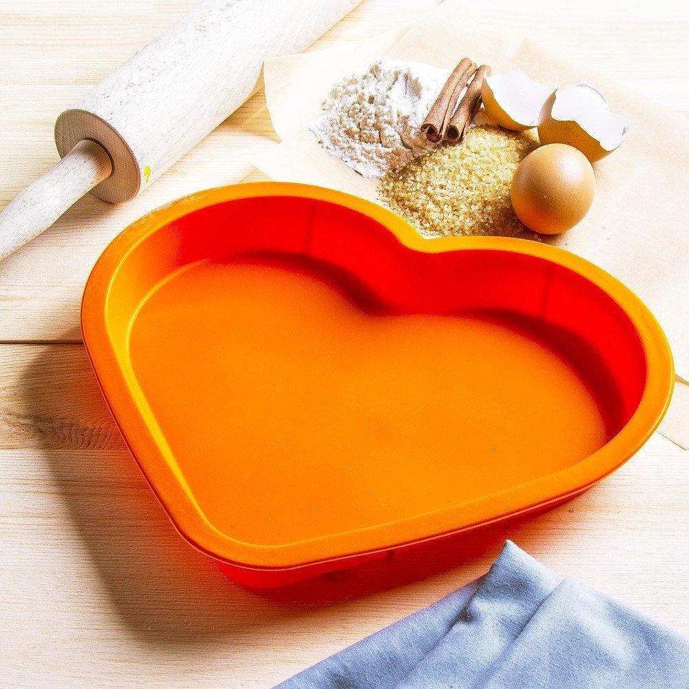Molde de silicona en forma de corazón