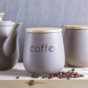 Recipiente de café de cerámica Florina Sabbia
