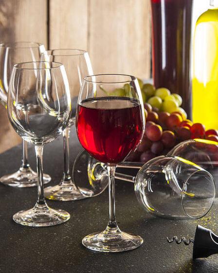 Copas de vino tinto de cristal Bormioli Rocco
