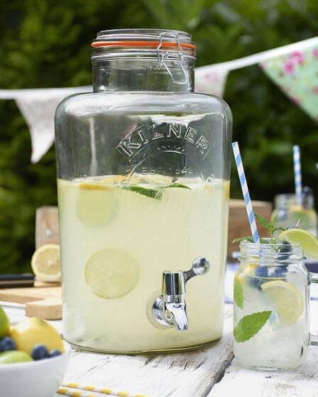 Tarro de cristal para bebidas con grifo Kilner