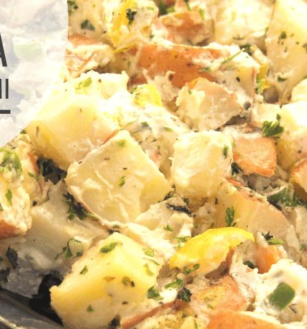 Ensalada de eneldo a la plancha con patatas - receta