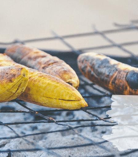 Plátanos a la plancha con chocolate - receta